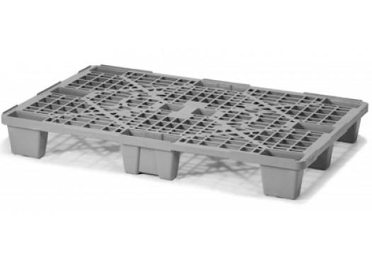 Поддон пластиковый легкий перфорированный серый