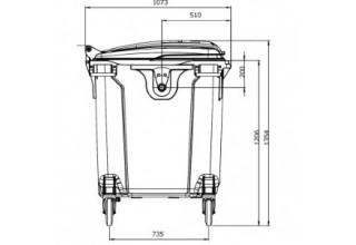 Пластиковый евроконтейнер для мусора ESE 1100