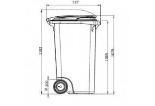 Пластиковый контейнер для мусора 240