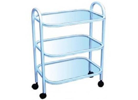 Стол 3-х полочный, полки стекло