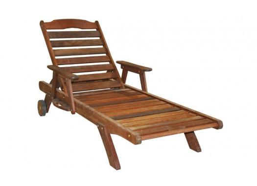 Шезлонг деревянный со столиком SUNL9