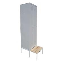 Гардеробный шкаф для одежды LS-21 с выдвижной скамейкой