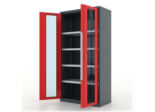 """Шкаф инструментальный """"Premium"""" 1000х500х1950h мм., двери со стеклом, с 4 полками - 13.1042"""