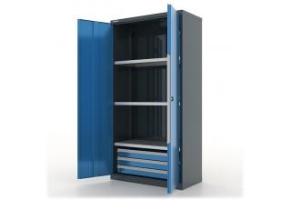 """Инструментальный шкаф с выдвижными ящиками 3 шт и полками 3шт """"Premium"""" 1000х500х1950h мм - 13.1331"""