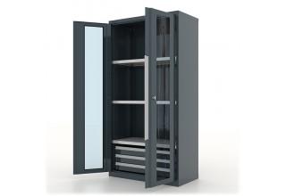"""Шкаф инструментальный с ящиками и полками 3*3, """"Premium"""" 1000х500х1950h мм, двери со стеклом - 13.1332"""