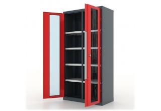 """Шкаф инструментальный """"Premium"""" 1000х500х1950h мм., двери со стеклом, с перегородкой и 8 полками - 13.2082"""