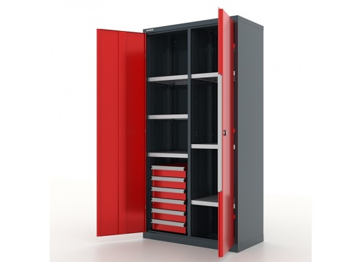 """Шкаф инструментальный с ящиками и перегородкой, """"Premium"""" 1000х500х1950h мм. 6 ящ и 6 пол - 13.2661"""
