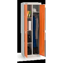 ШМУ 22-600 Шкаф универсальный с оранжевыми дверьми