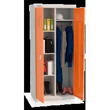 ШМУ 22-800 Шкаф универсальный с оранжевыми дверьми