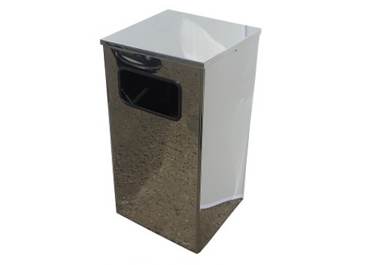 Урна для мусора Квадро-21 хром