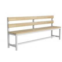 Скамейка для раздевалки со спинкой разборная (Р2)