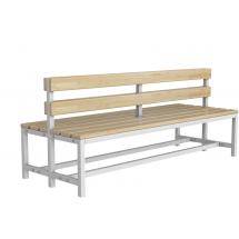 Скамейка для раздевалки со спинкой разборная (Р3)