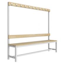 Скамейка для раздевалки со спинкой разборная (Р4)