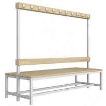 Скамейка для раздевалки со спинкой разборная (Р5)