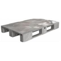 Паллет 1200х800х150 мм (сплошной на 3-х полозьях) серый TR 1208-1 серый