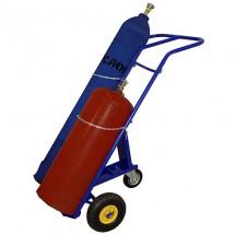 Тележка для перевозки 2-х баллонов КП 2 (колёса d 250 пневмо + d160 опорное)