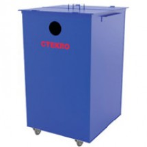Контейнер для раздельного сбора мусора передвижной ТС-73К (стекло)