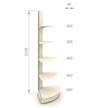 Торговый стеллаж угловой внешний ТСК-10