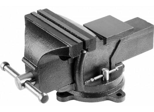 Тиски слесарные с наковальней 100 мм, KERN