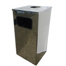 Урна для мусора Квадро-12 хром