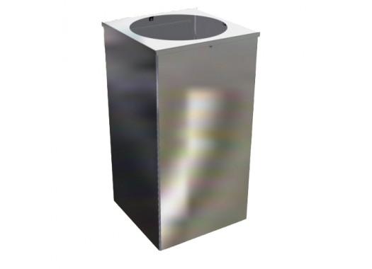 Урна для мусора Квадро-26 хром