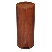 Урна с педалью, текстура дерева (30 л)